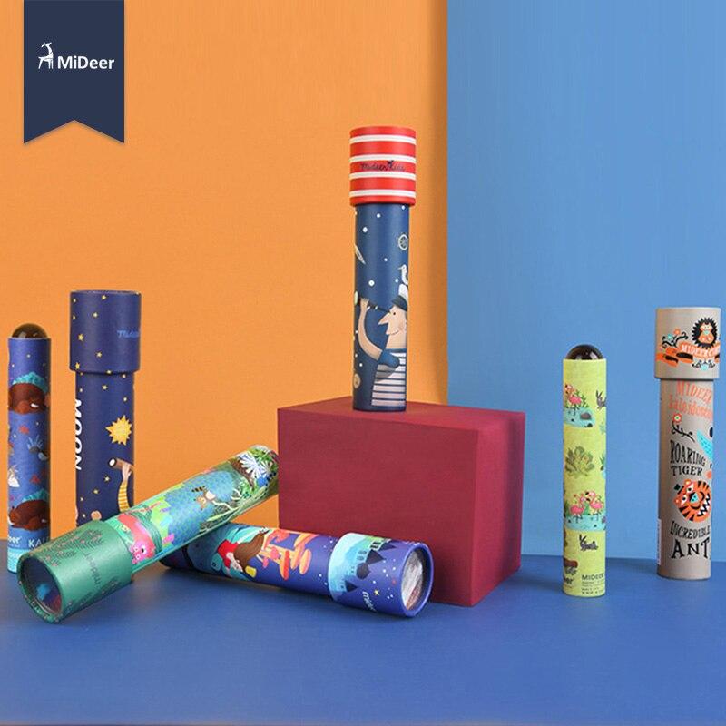 MiDeer Montessori Rotating Colorful Kaleidoscope Toy Lens Imaginative Cartoon Children Magic Classic Educational Toys for kids