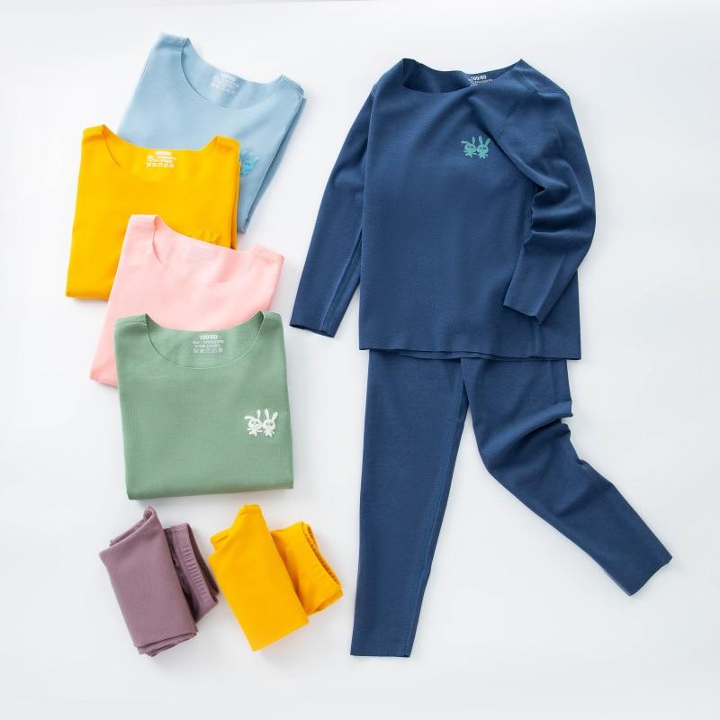 Seamless Thermal Kids Long John Autumn Winter Kids Thermal Underwear   Set   Teenage Boys Girls Pijamas Child Sleepwear 10 12 Year
