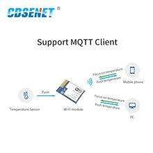 CC3200 2.4GHz Wifi modülü CDSENET E103 W02 SMD rf alıcı verici 2.4 ghz Wifi verici alıcı PCB anten için