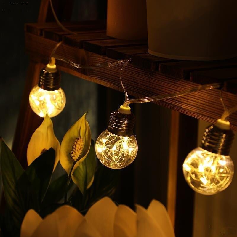 luzes fio cobre luzes da corda solar