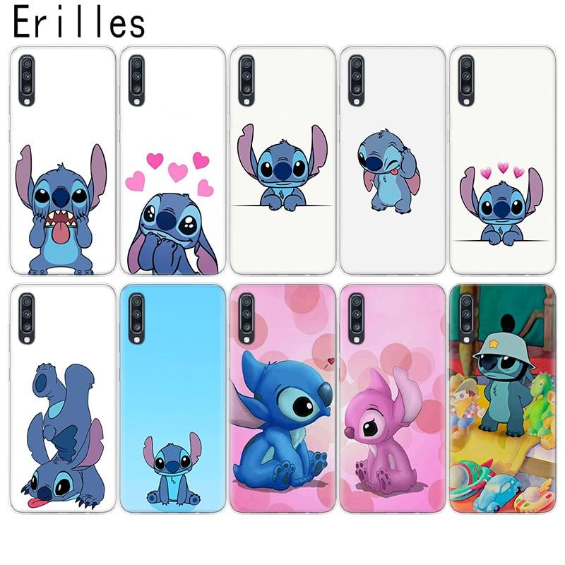 Phone Cover For Samsung A10 A20E A30 A40 A50 A51 A60 A70 A71 Case Soft A6 A7 A8 A9+Plus Disnays Stitches Coque