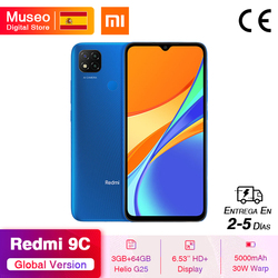 "Global Version Xiaomi Redmi 9C Smartphone 6.53"" HD Display Helio G25 Octa Core 5000mAh Battery 13MP AI triple Camera"