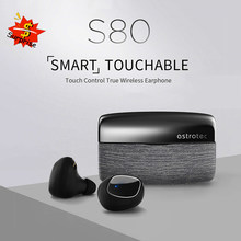 Astrotec S80 Echte Draadloze Hoofdtelefoon Bluetooth 5.0 Headsets Tws Waterdichte Sport Koptelefoon Ruisonderdrukking Bass Oordopjes