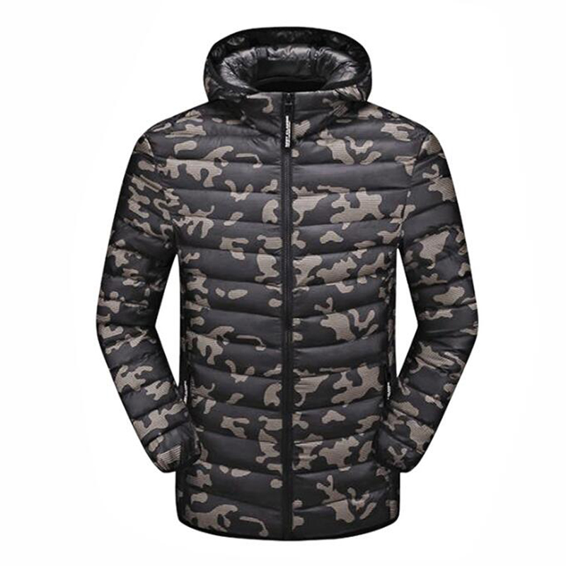Rlyaeiz 2018 Autumn Jackets Men Casual Chaquetas Hombre Ultralight Camouflage Down Parka Winter Coat Men Lightweight Overcoat