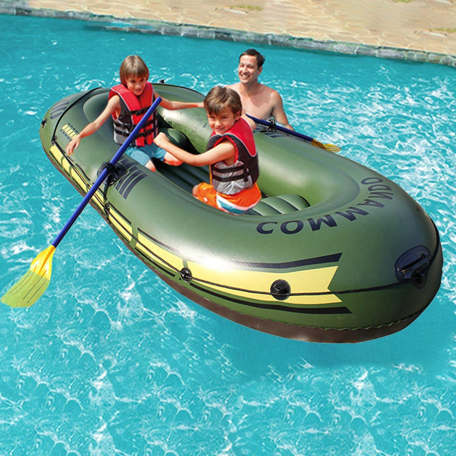Надувная рыбацкая лодка дрейфующая лодка надувная подушка-сиденье Водонепроницаемый износостойкий удобный для 2/3 человек каяк
