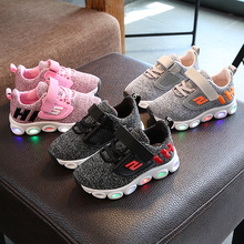 Boys Sneaker Girls Shoes High Quality Kids Led Shoes With Lights Sneaker 2019 Spring Autumn Children Toddler Baby Shoes цена 2017