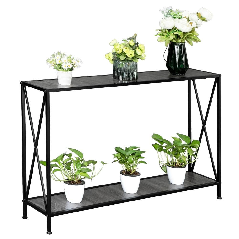 1pc Household Wrought Iron Multi layer Plant stand Succulent Shelf Rack Balcony Simple Indoor Coffee Bar Garden Flower Pot Shelf|Plant Shelves| |  - title=
