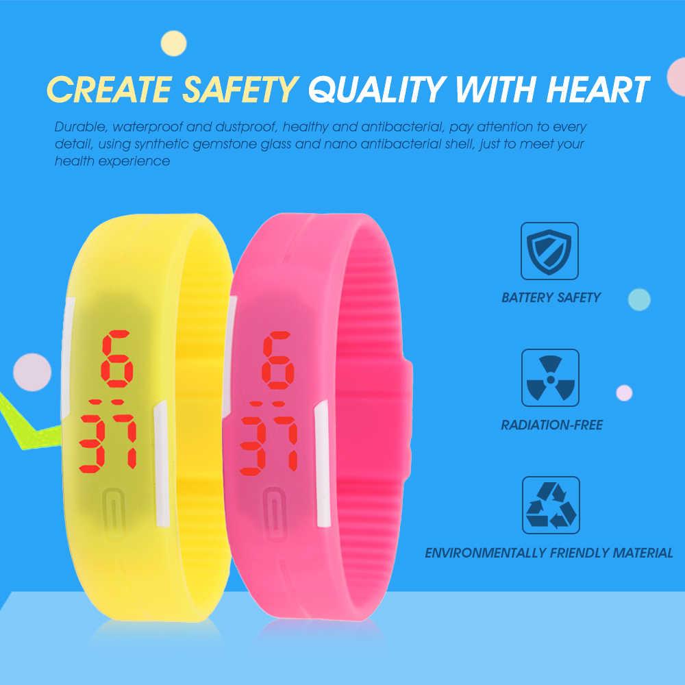 Pulseira de Esportes Das Mulheres dos homens Relógios Moda Silicone LED Vermelho Toque Digital Relógio de Pulso Eletrônico Relógio de Pulso dropshipping