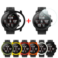 PC Smartwatch Protector Shell Case Cover with Screen Protector Film for Xiaomi Huami AMAZFIT 2/2S Stratos Watch Erkek Kol Saati