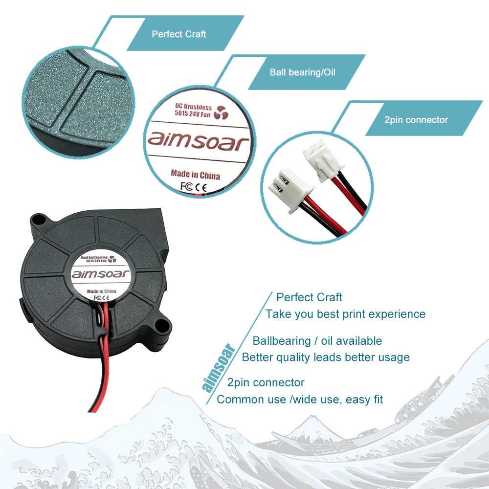3010/4010/5015 มม./ไฮดรอลิก/dual Ball แบริ่งพัดลม 12 V/24 V Cooler พัดลมระบายความร้อน 2 PIN พัดลมพลาสติกสำหรับ ender3 cr10