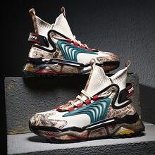 Мужские высокие кроссовки повседневная обувь модные спортивные