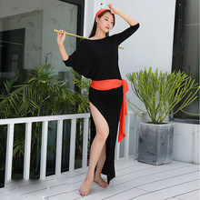 2019 New Women Dancewear Belly Dance Clothes Baladi Dress saidi One-piece Dresses Girls Practice Costume Bellydance Dress(China)