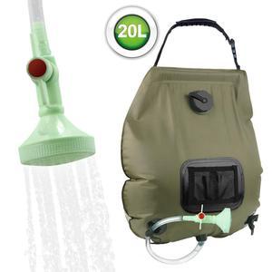 20L Outdoor Solar Hot Shower Bag Portable Shower Bag Camping Shower Bath Water Bag Large Capacity Camping Shower Supplies Set(China)