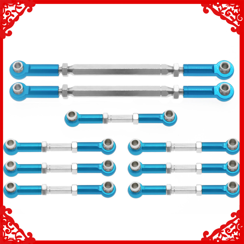Alloy steel tie rod set for rc hobby model car 1-10 Wltoys K949 <font><b>10428</b></font> Horizon Vaterra Hammers VTR03013 etc upgraded parts image