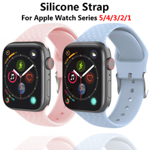 Strap For Apple watch band 5 4 44mm 40mm apple watch 38mm 42mm Silicone bracelet belt watchband iwatch 5 4 3 2 1  Accessories цена и фото