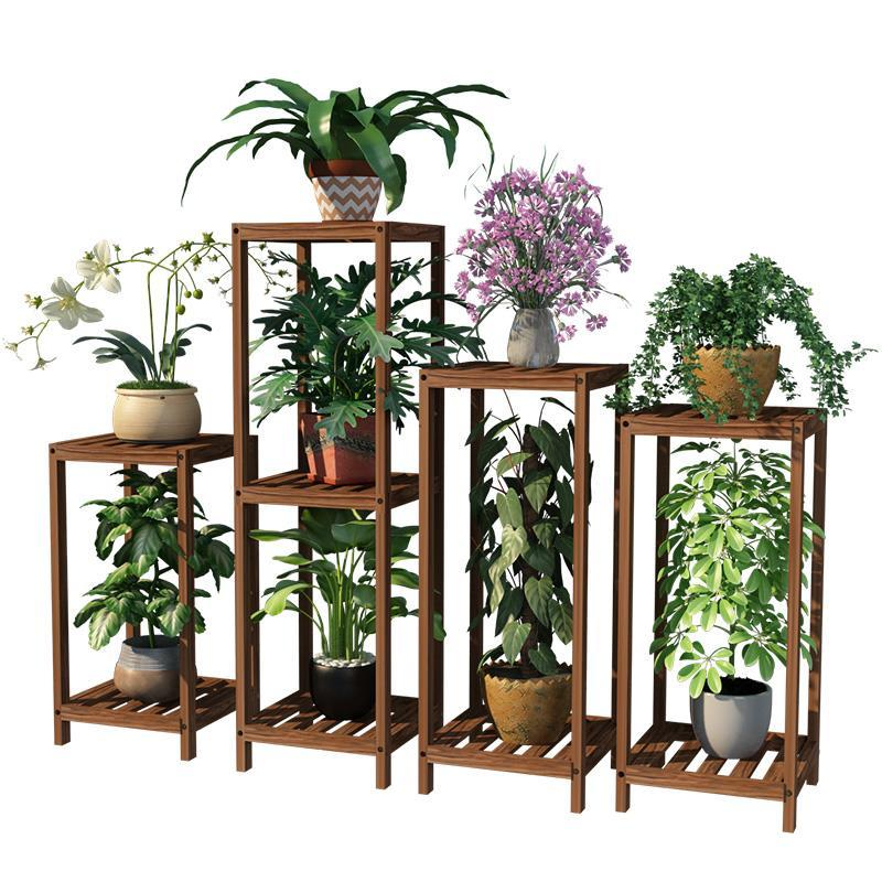 Para Plantas Terraza Wooden Shelves For Estanteria Escalera Balcony Outdoor Flower Stand Stojak Na Kwiaty Rack Plant Shelf