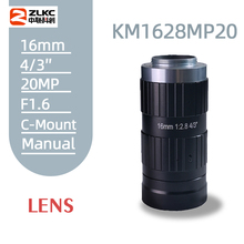 """20 ميجابيكسل 16 مللي متر ثابت البؤري عدسة تشويه منخفضة C Mount 4/3 """"عدسة الكاميرا مناسبة للتفتيش الصناعي والرؤية الآلية"""