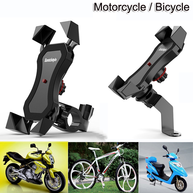 Motorcycle Bicycle Moto Bike Phone Navigation Holder Support handlebar Rearview Mirror Mount Clip Bracket for Mobile CellPhone