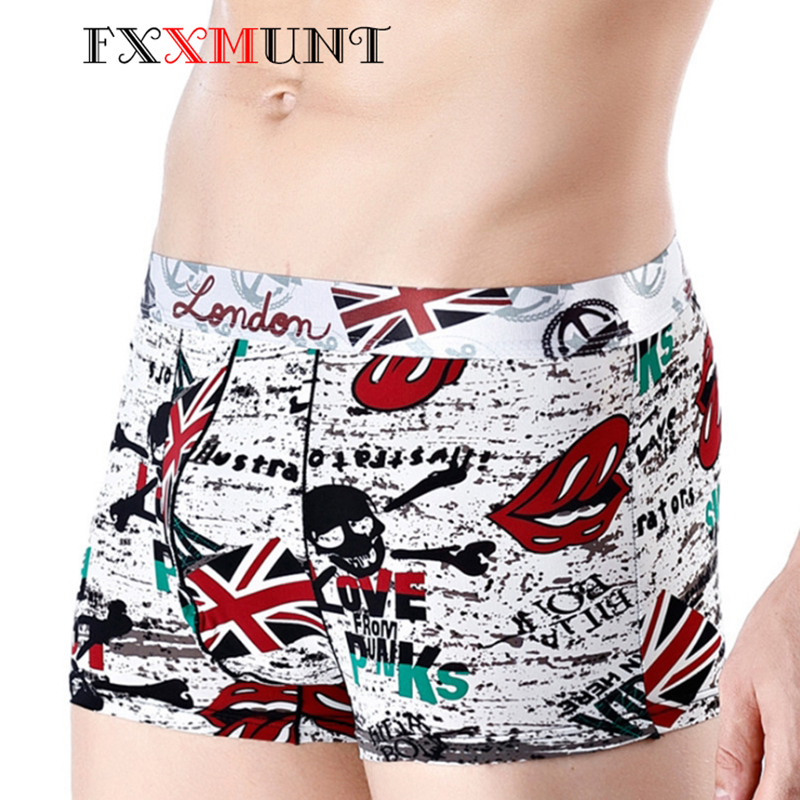 Ice Silk Boxer Cartoon Boxer Ethika Men's Underwear Homme Calecon Boxer Shorts Male Boxer Print Underwear Pants BS 06