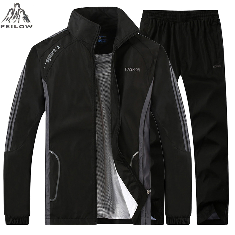 Spring Autumn Tracksuit Men Two Piece Basketball Training Sets Casual Men`s Sportswear Gym Joggers Track Suit Man Sweatsuits