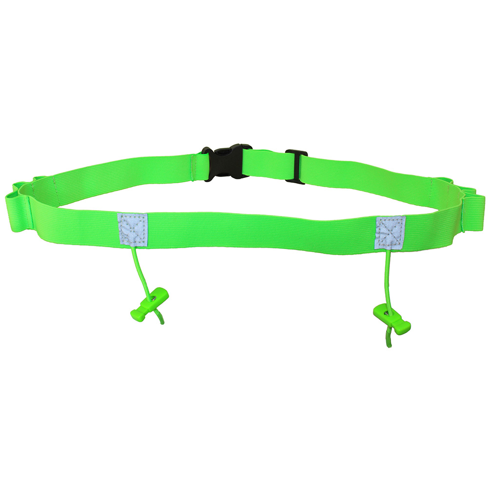 Cycling Reflective Bib Waist Pack Polyester Motor Running Race Unisex Holder Outdoor Number Belt Sports Triathlon