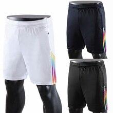 Лидер продаж, мужские шорты для профессионального футбола, дышащие шорты для тенниса и бега, шорты для спорта на открытом воздухе, фитнеса, футбола, шорты с карманами на молнии