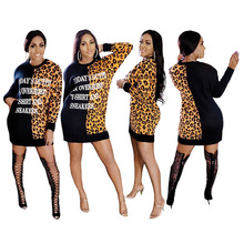 Women's Fall Leopard Print Tops Long Sleeve Shirts Sweatshirts Blouses Tunics