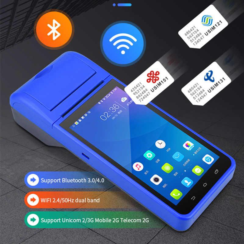Radall Pos Terminal Pos Systeem Pda Barcode Scanner Android 3G Wifi Bluetooth Draadloze Ontvangst-Bill Printer Scanner Apparaat RD6000