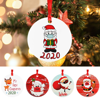 2020 Quarantine Christmas Decoration Merry Christmas PET Xmas Tree Pendant Ornament for Home Party Navidad New Year Kids Gift image