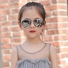 Clássico aviação óculos de sol para menino e menina colorido espelho piloto óculos de sol crianças óculos de sol crianças óculos de sol uv400