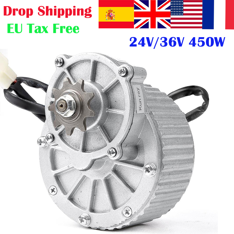 450W 24 V/36 V MY1018 DC Getriebe Gebürstet Motor Elektrische Fahrrad Motor Ebike Gebürstet DCMotor Elektrische Fahrrad conversion Kit