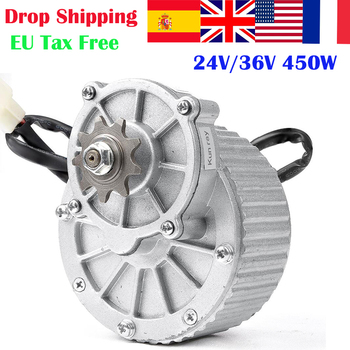 450W 24V/36V MY1018 DC Gear Brushed Motor Electric Bicycle Engine Ebike Brushed DCMotor Electric Bike conversion Kit