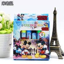 Mickey Mouse Anak Kartun Pensil Warna Cat Air Pena Disney Princess Spiderman Mudah Dicuci Graffiti Lukisan Pena Perlengkapan(China)