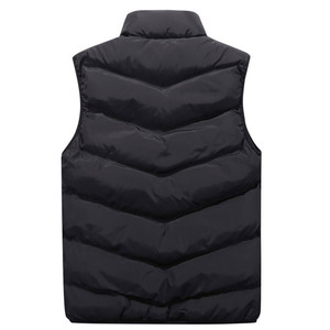Image 5 - Mens Jacket Sleeveless Vest Winter Fashion Casual Coats Male Cotton Thick Clothing Warm Mens Vest Men Thicken Waistcoats 8XL