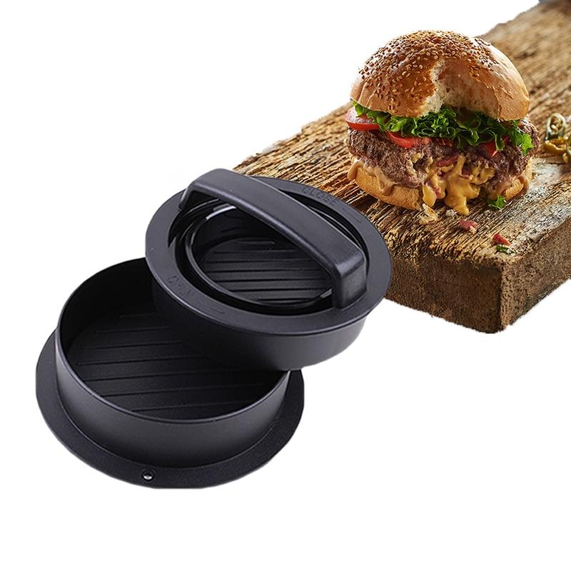 Kitchen Round Shape Meat Pie Press Mold Burger Press Food-Grade ABS Hamburger Meat Press Beef Grill Hamburger Press Patty Maker