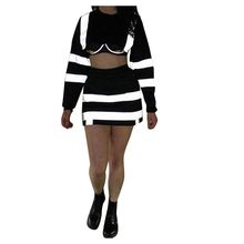 Perimedes streetwear Badminton Sets women sportswear Women's Glittered Hooded Pullover T-Shirt Skirts Sports Set#g35(China)