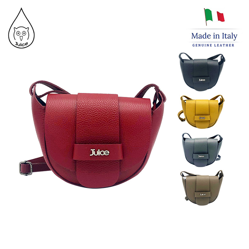 JUICE ,made In Italy, Genuine Leather, Women Bag,cross Body,dollaro Leather Soft Leather 112149