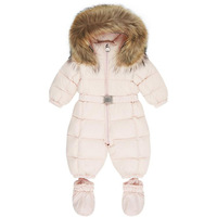 Winter Warm Snowsuit Baby Boy Girls Romper White Duck Down Outdoor Infant Clothes Toddler 0 3Y Clothing for Kids Park Coat Fur