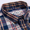 England Style Contrast Casual Checkered Shirts 2