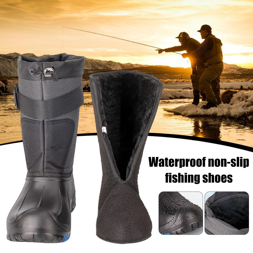 Waterproof Non slip Fishing Shoes Autumn And Winter Spring Warm Fishing Shoes Ice Fishing Sea Fishing Boots Double Layer|Fishing Waders| |  - title=