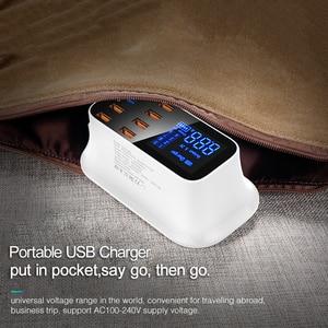 Image 5 - GOOJODOQ ładowarka PD 40W 8 Port USB ładowarka inteligentny wyświetlacz ledowy USB szybkie ładowanie dla Apple iPhone Adapter ipad Xiaomi Samsung