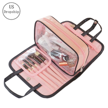 New Women Removable Solid Cosmetic Storage Bag Travel Waterproof Cosmetic MakeUp Box High Quality Make Up Bag Organizer Bags cosmetic bag high quality high capacity cosmetic case beautician waterproof makeup box professional ladies make up sponsor bag