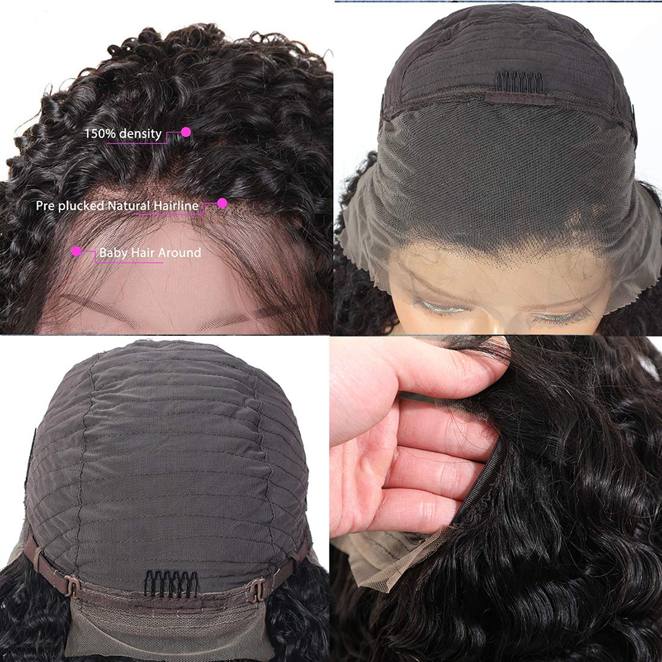 13*4 Lace Front Wig Curly  Wig   Hair Jerry Curl Wig 180 Density Lace Front  Wigs 5
