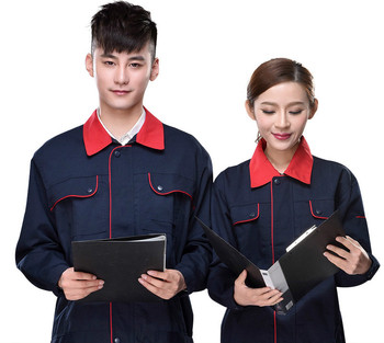 Customize Mens Work Wear  Navy Workwear Set Long Sleeve Coat Long Trousers Coveralls Auto Repair Male Pants Jacket 2pcs D44 free shipping work wear set male tooling uniform customize lf 102 long sleeve mechanic jacket and engineer jacket page 2