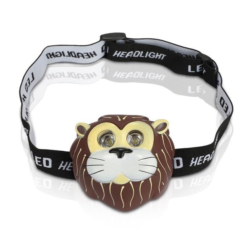 Outdoor Tools Headlight Headlamp Child's Children Kid Novelty Animal Flash LED Head Light Torch Head Lamp USB Head Lamp
