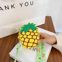 Lindo aguacate bolsa infantil de dibujos animados de silicona resistente al agua los niños monedero bolso precioso dulce de leche de fruta hombro Diagonal bolso de compras
