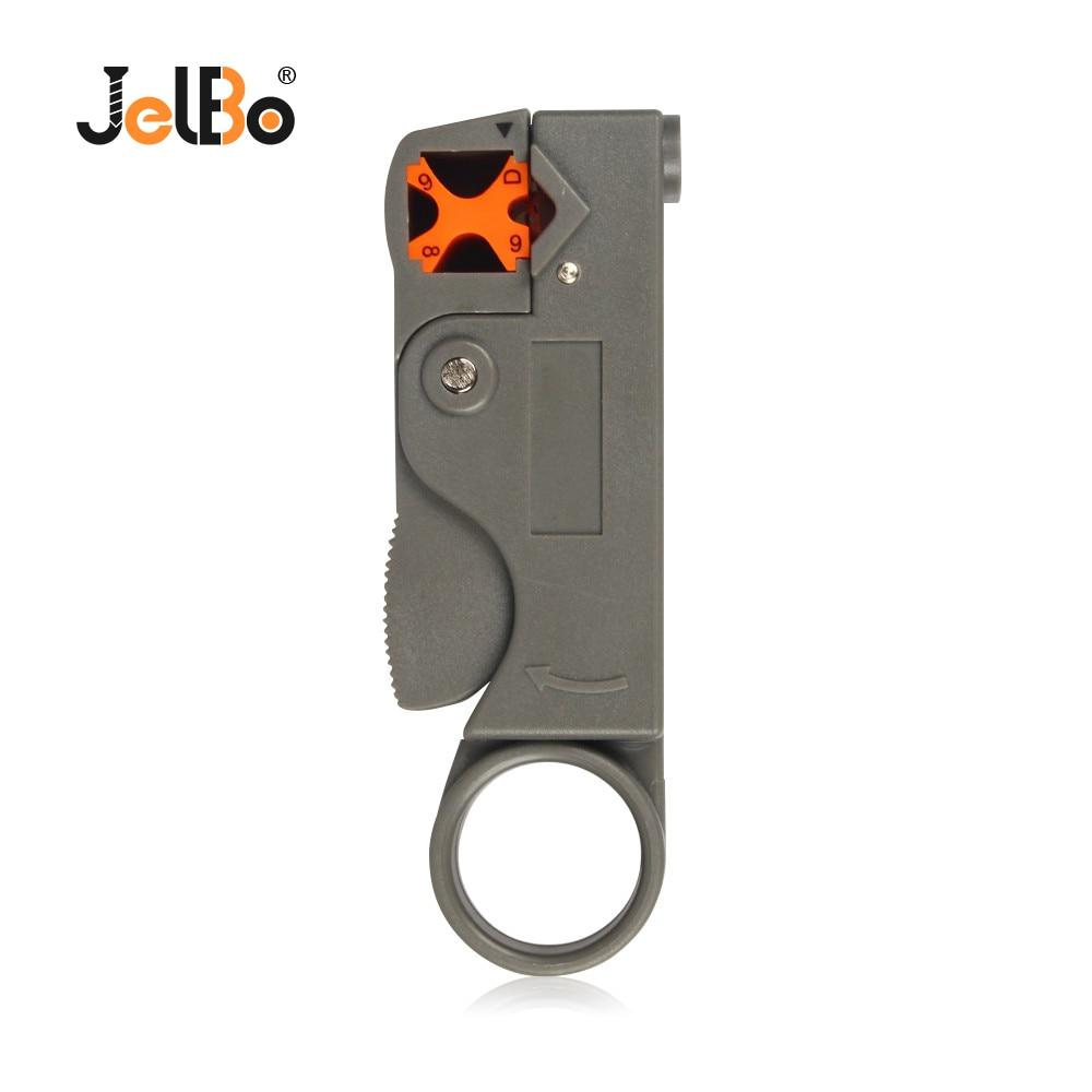 JelBo自動ストリッパープライヤー多機能ワイヤーストリッパーストリッピング圧着工具、ワイヤーケーブルツール用六角レンチ付き