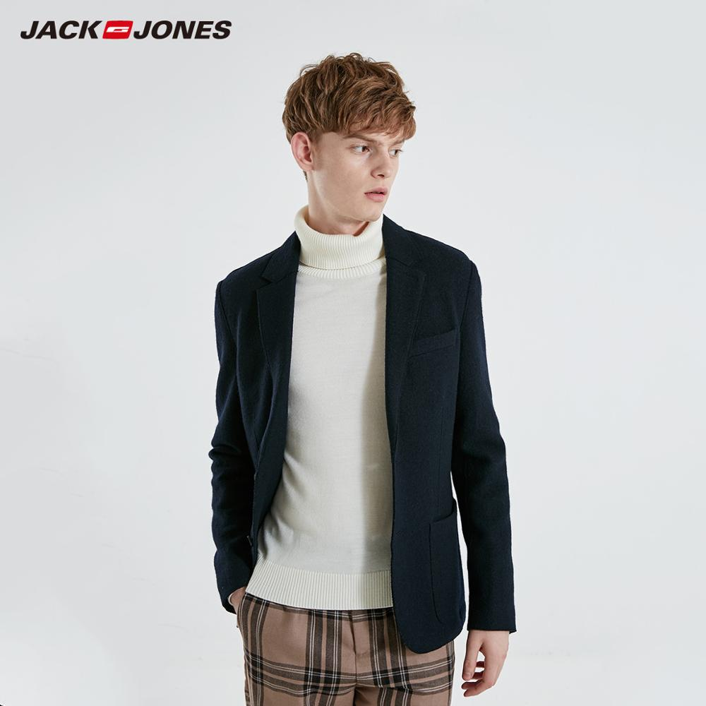 JackJones Men's Autumn&Winter Casual Slim Fit Woolen Suit Jacket Basic Menswear| 219108506