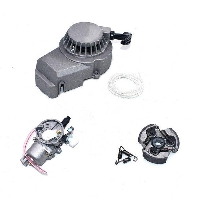 Carburateurs avec début pochette pour vtt   Tampon rabattable pour 2 Carrera 47cc 49cc Pocket Bike