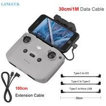 30cm OTG veri kablosu DJI Mavic hava 2/Mini 2 kablo IOS C tipi mikro USB adaptörü tel bağlayıcı Tablet telefon Drone